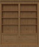 Scaffale di libro di legno della quercia Fotografie Stock Libere da Diritti
