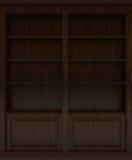 Scaffale di libro di legno scuro Fotografia Stock Libera da Diritti