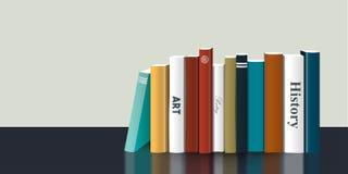 Scaffale di libro Illustrazione realistica di vettore 3D Progettazione di colore Fotografia Stock