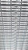 Scaffale di memoria a dischi del disco rigido di capacità elevata utilizzato per i grandi servizi della nuvola di dati dentro la fotografie stock