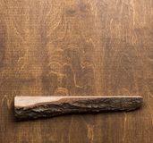 Scaffale e parete di legno immagine stock