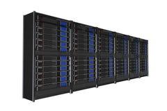 Scaffale isolato dei server illustrazione di stock