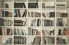 Scaffale per libri illustrazione di stock