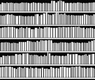 Scaffale per libri in bianco e nero astratto Fotografie Stock