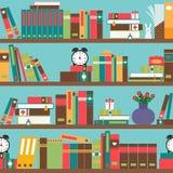 Scaffale per libri con i libri illustrazione di stock