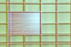 Scaffale vuoto Fotografia Stock