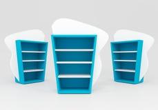 Scaffali blu Immagine Stock