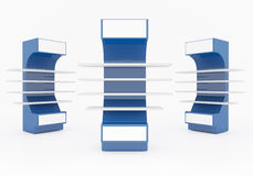 Scaffali blu Immagine Stock Libera da Diritti