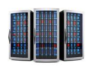 Scaffali del server di rete Immagine Stock