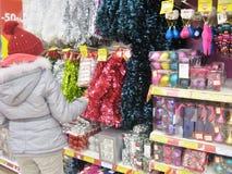 Scaffali della roba di Natale Immagine Stock Libera da Diritti