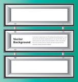 Scaffali della scatola bianca Fotografia Stock