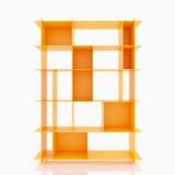 Scaffali di alluminio arancio Immagine Stock