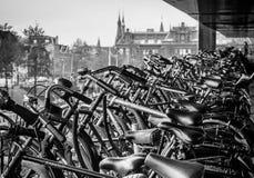 Scaffali di biciclette Immagine Stock Libera da Diritti
