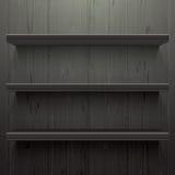 Scaffali di legno scuri del fondo Illustrazione di Stock