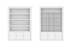 scaffali di libro bianco. illustrazione vettoriale