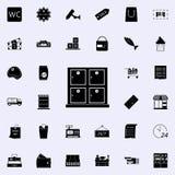 scaffali per l'icona di stoccaggio commercializzi l'insieme universale delle icone per il web ed il cellulare illustrazione di stock