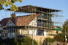The scaffold. Renovation work in progress Royalty Free Stock Image
