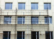 Scaffold against the wall Stock Photography