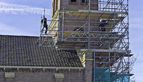 Scaffold builders Stock Photography