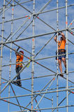 Scaffold builders at work Sydney New South Wales Australia Royalty Free Stock Photos