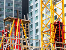 Scaffold on building construction site Royalty Free Stock Photo
