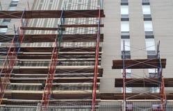 Scaffold building renovation construction site skyscraper Stock Image