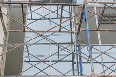 Scaffold on a building wall Stock Photography
