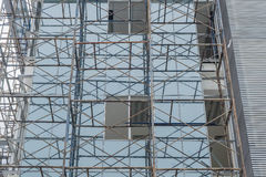 Scaffold on a building wall Royalty Free Stock Photos