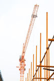 Scaffold in construction site Stock Image