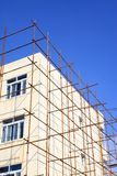 Scaffold in construction site Royalty Free Stock Photo