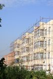 Scaffold in construction site Royalty Free Stock Photography