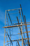 Scaffold in the construction site Royalty Free Stock Photos