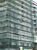 Scaffold on the construction site Royalty Free Stock Photography