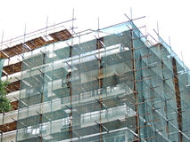 Scaffold on the construction site Royalty Free Stock Image