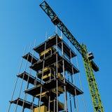 scaffold för 2 kran Fotografering för Bildbyråer