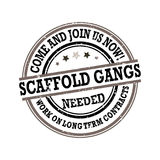 Scaffold Gangs Required  - grunge printable label / stamp Stock Photo