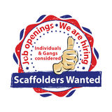 Scaffold Gangs Required - grunge printable label / stamp Stock Images