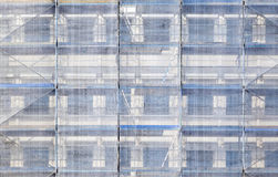 Scaffold at a house Royalty Free Stock Image
