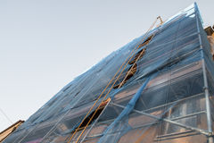 Scaffold on a old house for renovation Royalty Free Stock Images