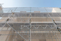 Scaffold on a old house for renovation Royalty Free Stock Photos