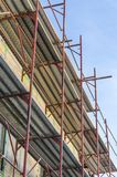 Scaffold on old house Royalty Free Stock Image