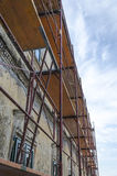Scaffold on old house Stock Photo
