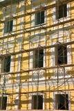 Scaffold over facade Stock Images