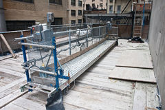 Scaffold platform Royalty Free Stock Image