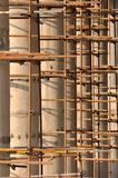 Scaffold and poles under construction Stock Images