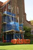 Scaffold. renovation. construction work site Royalty Free Stock Image