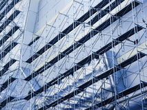 Scaffold and Steel Construction Building Site Royalty Free Stock Image