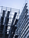 Scaffold and Steel Construction Building Site Stock Photos