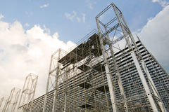 Scaffold and structure Royalty Free Stock Image