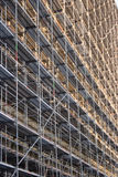 Scaffold in the sun Stock Images